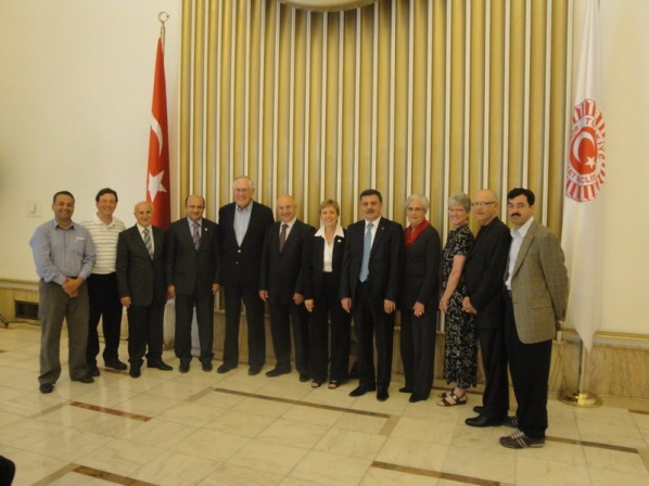 Kansas Legislators among guests of Turkey in 2010:  Rep. Sidney Carlin (center), Rep. Joan Pottorf (4th from r.), Rep. Nile Dillmore (2nd from r.)